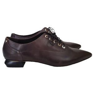 CAPEZZANI Lace-up Pointy Toe Oxford Shoes